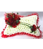 Pillow and Cushion Funeral Flowers