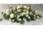 Spray and coffin spray funeral flower tributes by fareham florists white double ended funerals flowers izmirmasajfo